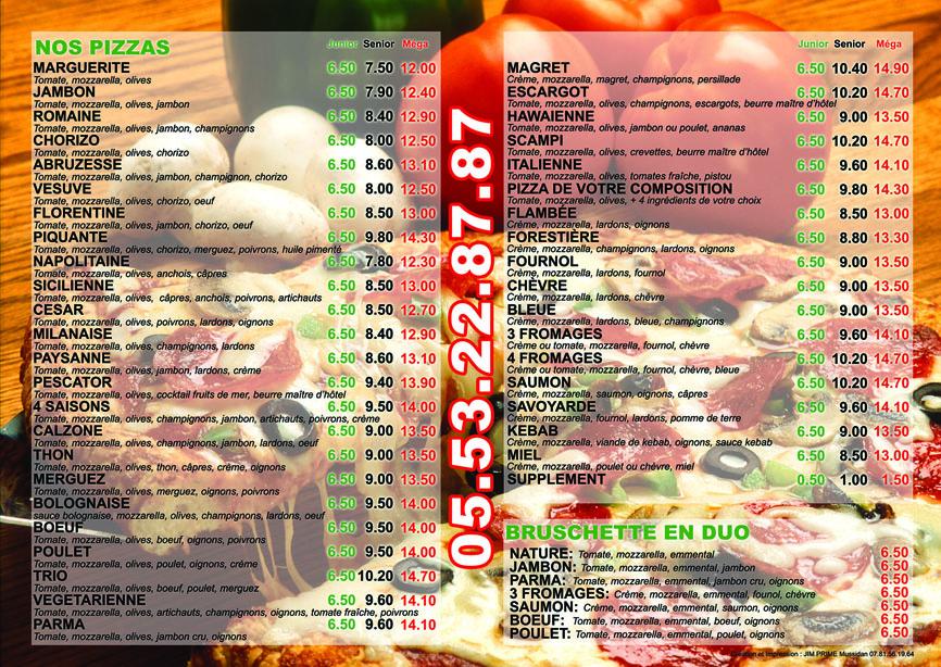 Carte Kiosque A Pizza.Pizza Napoli Bergerac Bergerac Commerce